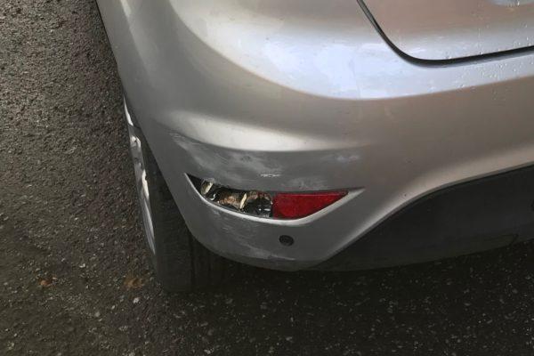 Ford Fiesta tolatási sérülése és javítása