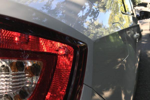 Skoda Rapid hátsó lökhárító javítása, fényezése