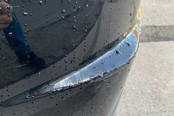 Honda Civic hátsó lökhárító javítása
