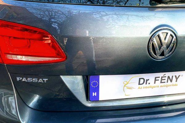 VW Passat csomagtérajtó és lökhárító javítása, fényezése