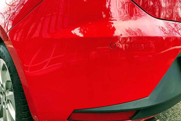Seat Leon hátsó lökhárító javítása, fényezése