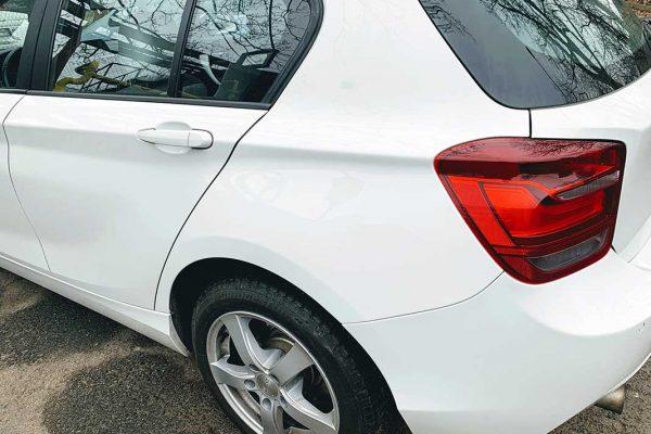 BMW 116i hátsó lökhárító fényezése